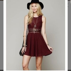 Free People Merlot Daisy Dress